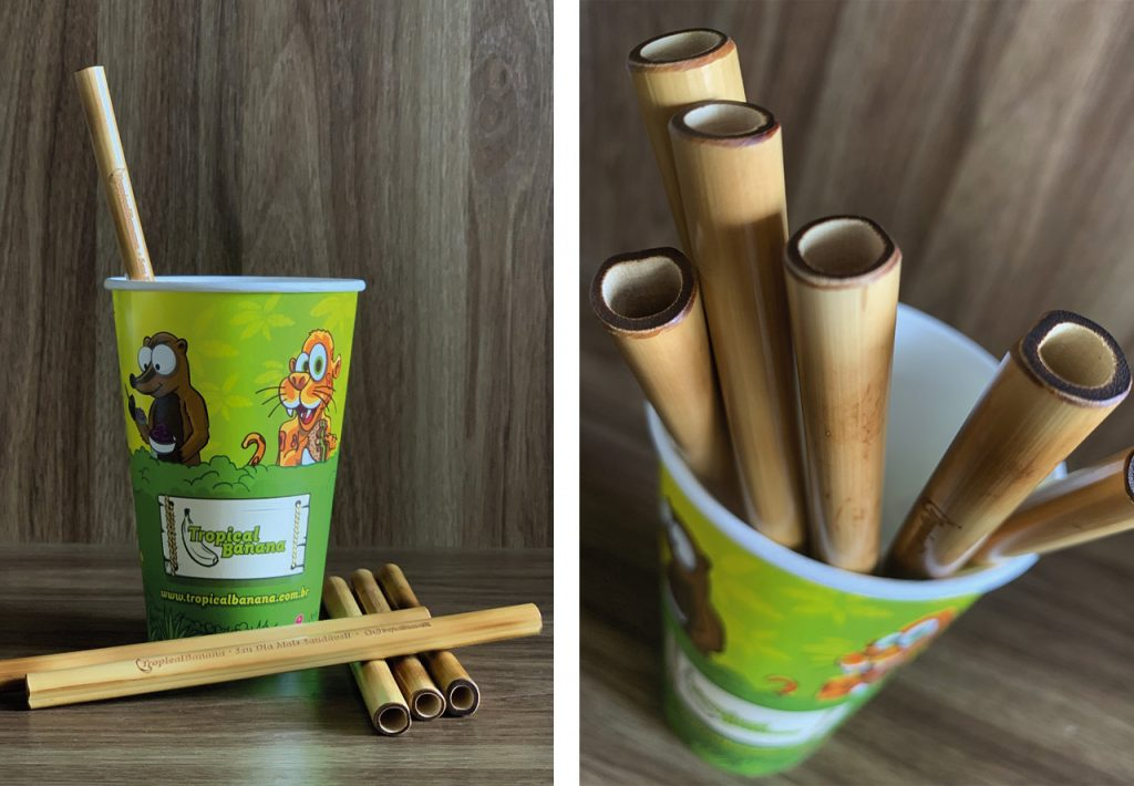canudos ecológicos, canudos de bambu, tropical banana. curitiba